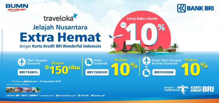 Promo Bri Promo Kartu Kredit Bri Wonderful Indonesia Di